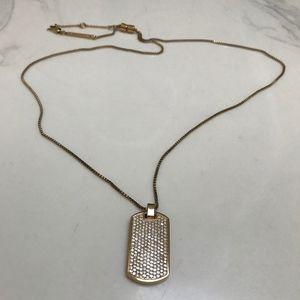Michael Kors Reversible Blingy DogTag Necklace